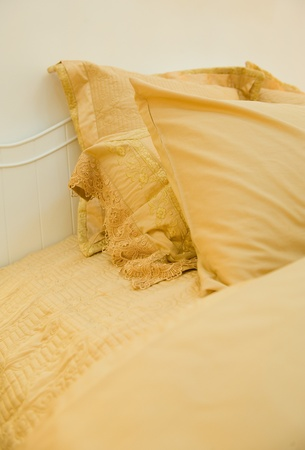 Image of comfortable pillows and bed. Stock Photo - 13236862