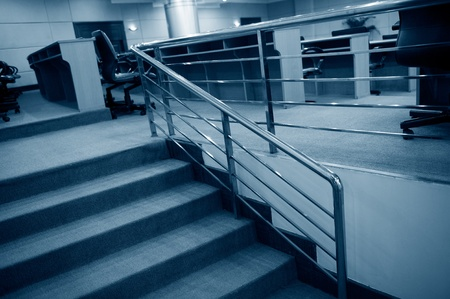 Stairs in the office center. photo