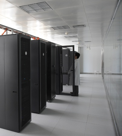 IT engineer working in data center. Stock Photo - 13266503