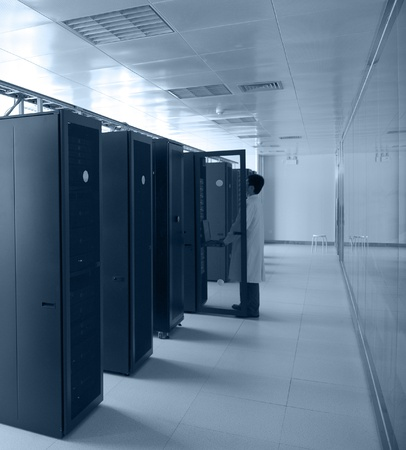 IT engineer working in data center. Stock Photo - 13266501