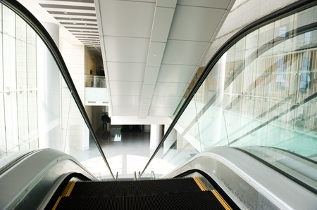 modern steps of moving business escalator