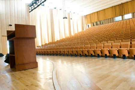 auditorium: An empty lecture hall in a University