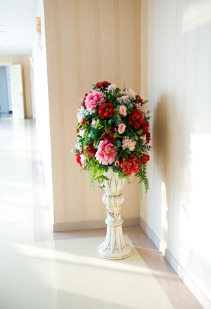 antique vase: Front shot of classic vase in the corner.