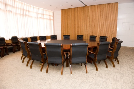 board room: Conference table and chairs in meeting room   Editorial