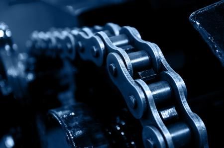 maschinen: Maschinen durch Kettenrad angetrieben.