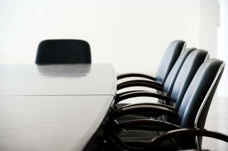 sala de reuniões: Empty business conference room interior.