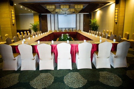 business conference room tea cups in Chinese hotel. Stock Photo - 13265966