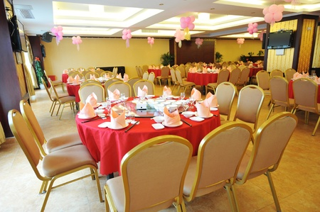 banquet table setting for wedding in china