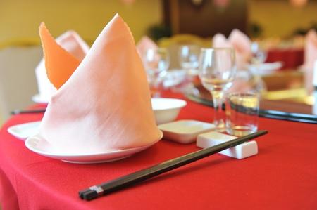 중국의 좋은 저녁 식사 테이블. 에디토리얼