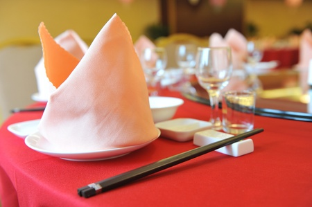 wine and dine: A fine dinner table in China.