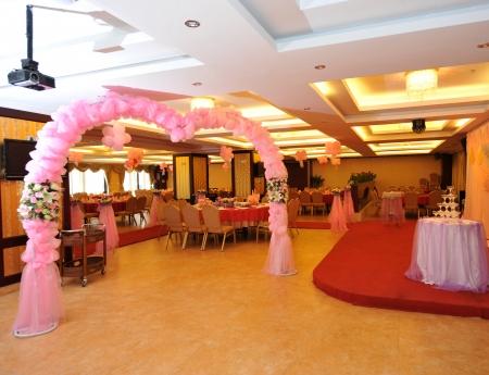 중국에서 결혼식 연회 테이블 설정