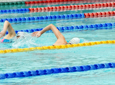 Man swimming during a competition Stock Photo - 13328865