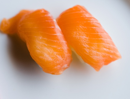 Close up of japanese sushi, shallow dof. photo