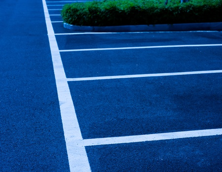 Empty parking spaces await commuters. Stock Photo - 13344666
