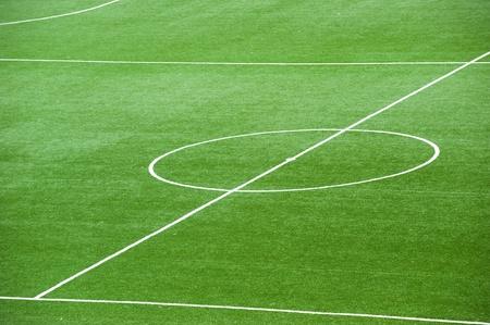soccerfield: Voetbalveld, centrum en zijlijn.