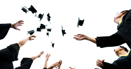 high school graduation hats high  photo