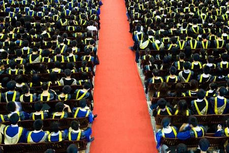 gorros de graduacion: Disparo de las tapas de graduaci�n durante el inicio.