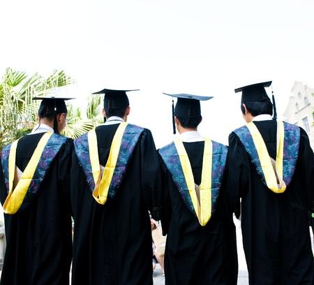 back of four chinese graduates. Stock Photo - 13447748