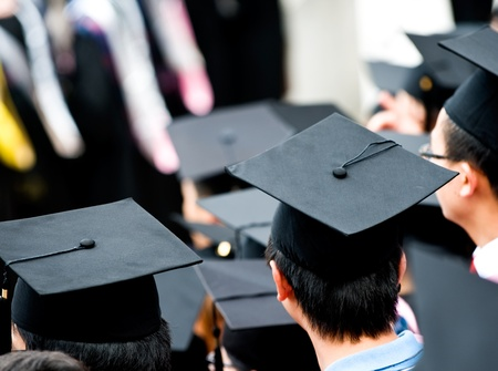 Shot of graduation caps during commencement. Stock Photo - 13447783