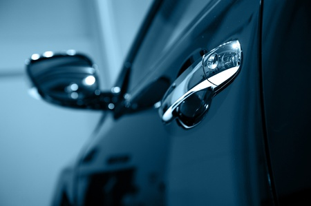 polish: Door car - detail of a luxury car Stock Photo
