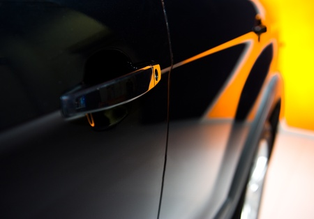 blacked: Door car - detail of a luxury car Stock Photo