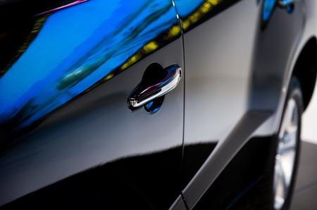 automobile door: Door car - detail of a luxury car Stock Photo