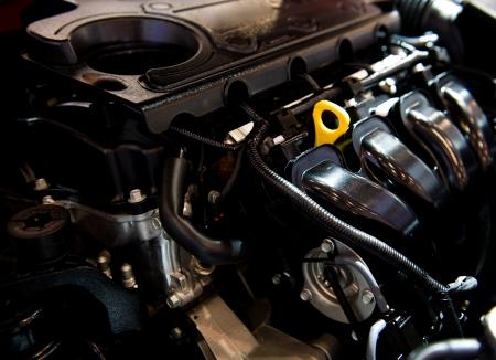 De krachtige motor van de moderne auto