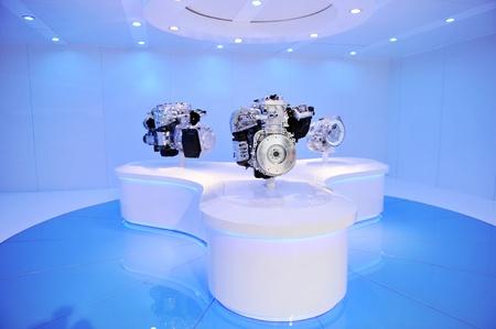 mostra di motore della macchina nuova.