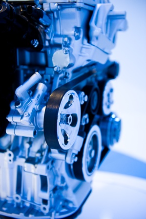 automotive industry: An engine of a modern car.