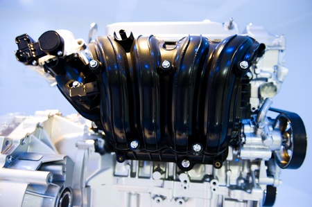 close up shot of brand new car engine. Stock Photo - 13448253