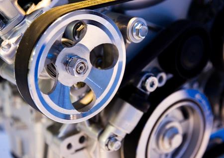 An engine of a modern car. photo