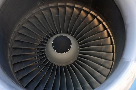 close up of turbojet of aircraft  photo