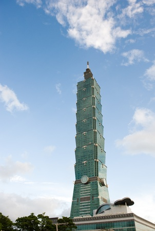 high rises: Taipei 101 building was the worlds tallest building until 2010. Editorial
