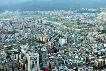 Taipei city view from high  photo