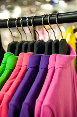 fashion clothing on hangers at the show Stock Photo - 13536241