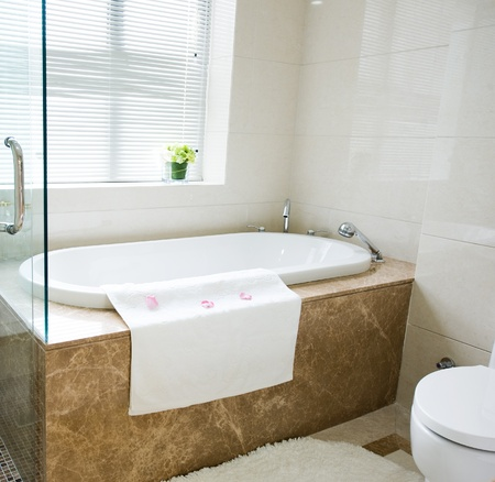 Bathtub in a luxurious hotel room. Stock Photo - 13536414