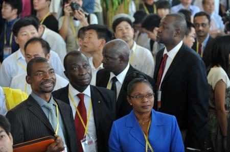 Cette photo montre public à un séminaire international, qui a organisé en Chine sur 7, septembre 2011. C'est l'un de l'événement le plus célèbre des investissements internationaux de promotion dans le monde.