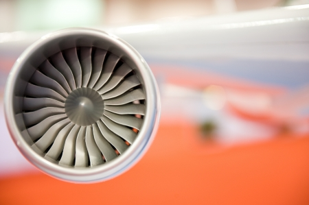 detail of areoplane model engine. photo