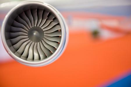 avion de chasse: détail de modèle de moteur areoplane. Banque d'images