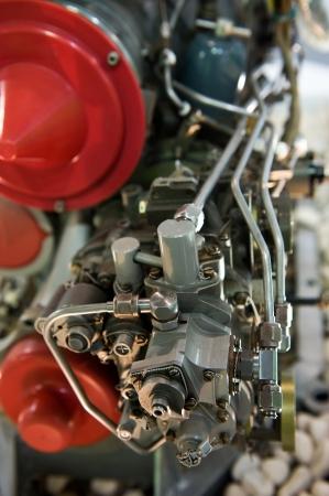 aeronautics: detail of large aircraft jet exposed.