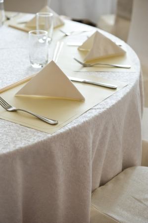 Chairs and tables in white.  photo