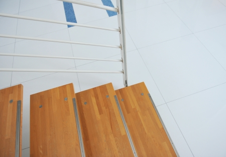 Part of the wooden stairs. photo