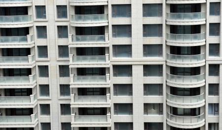 r�p�titif: d�tail d'une fa�ade d'immeuble du centre-ville tr�s r�p�titif en Chine.