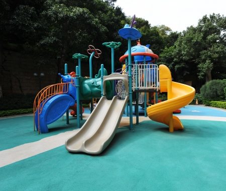 An image of colorful children playground, without children. Stock Photo - 13660640