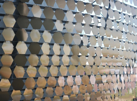 electroplating: detail of metal ornamental pattern.