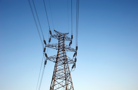 Electric power station with blue sky.  photo