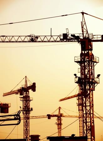 andamios: Gr�as en un sitio de construcci�n en China.