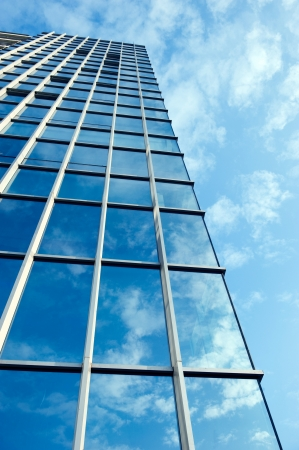 high rises: modern glass silhouettes on modern building. Stock Photo