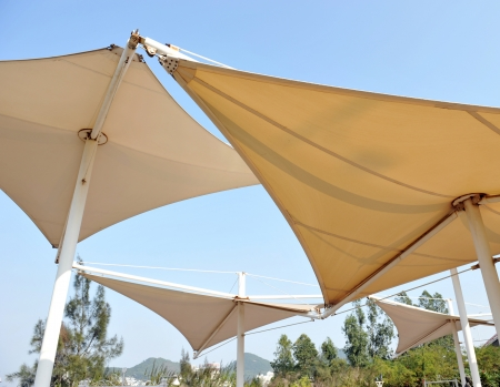 sun shade: Roof of sails to create shade