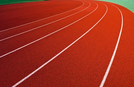 Curve on a running track. Stock Photo - 13695989